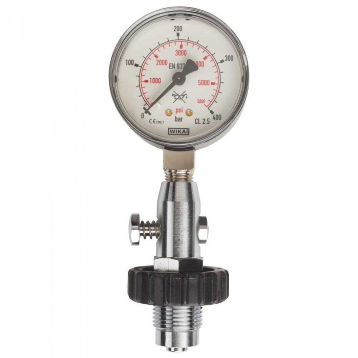 [해외]OMS Cylinder Pressure Testing Gauge DIN Up To 300 Bar/4300 PSI 10137739631 Silver