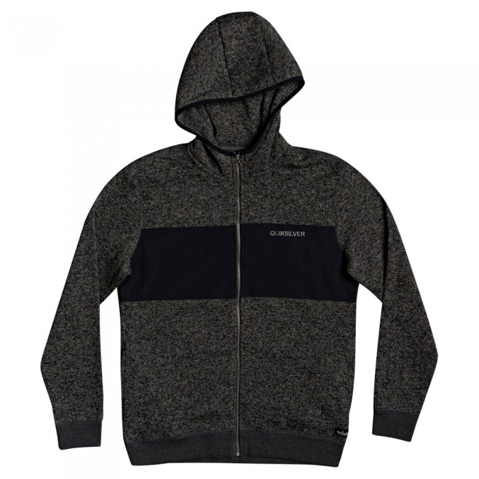 [해외]퀵실버 Keller Hood Zip Nylon Fleece 14137590870 Dark Grey Heather