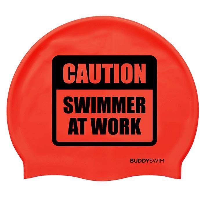 [해외]BUDDYSWIM Caution Swimmer At Work Silicone 6136860759 Red
