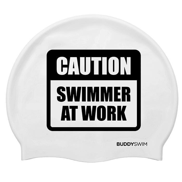 [해외]BUDDYSWIM Caution Swimmer At Work Silicone 6136860760 White