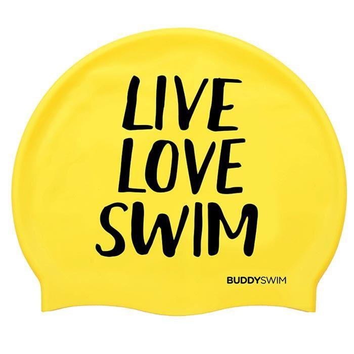 [해외]BUDDYSWIM Live Love Swim Silicone 6136860761 Yellow
