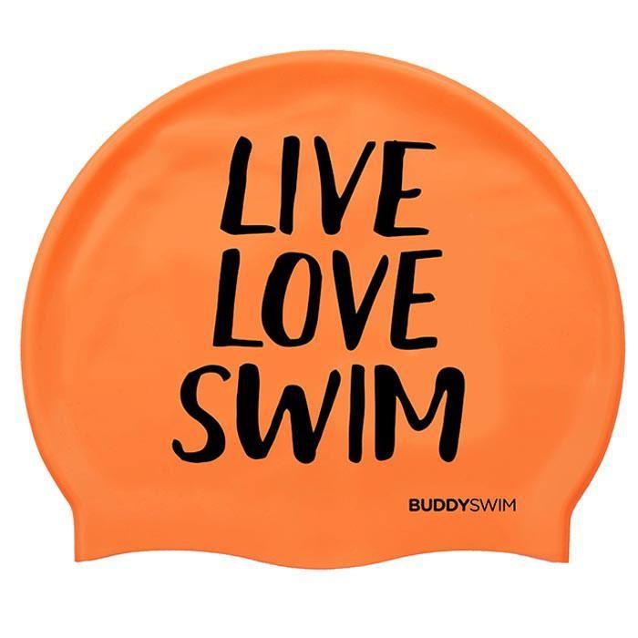 [해외]BUDDYSWIM Live Love Swim Silicone 6136860762 Orange
