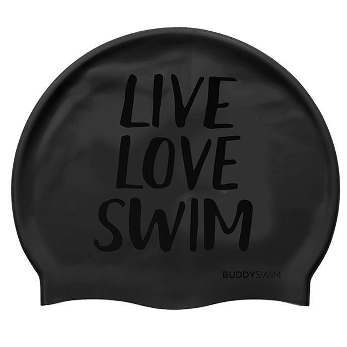 [해외]BUDDYSWIM Live Love Swim Silicone 6136860763 Black