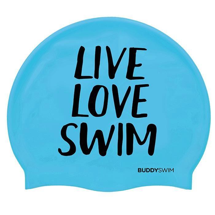 [해외]BUDDYSWIM Live Love Swim Silicone 6136860764 Blue