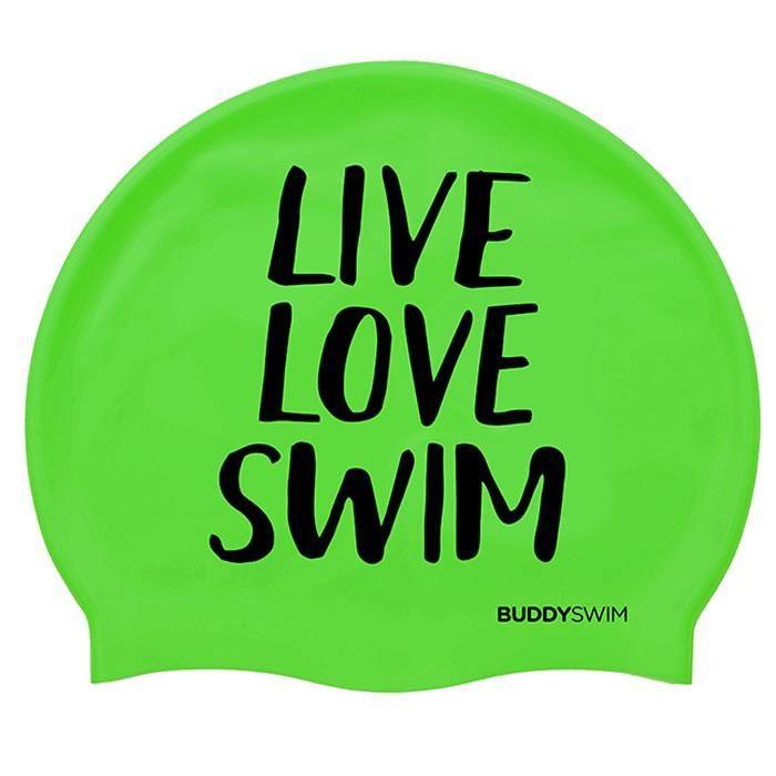 [해외]BUDDYSWIM Live Love Swim Silicone 6136860765 Green