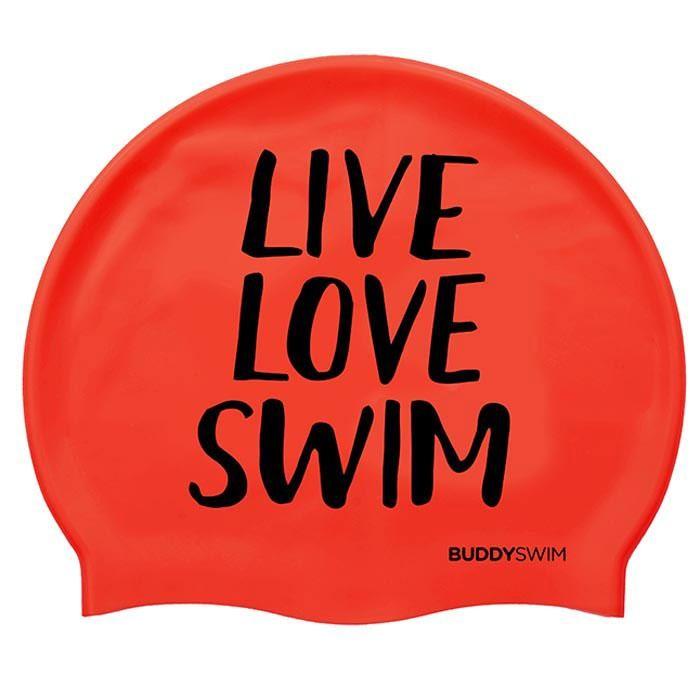 [해외]BUDDYSWIM Live Love Swim Silicone 6136860767 Red