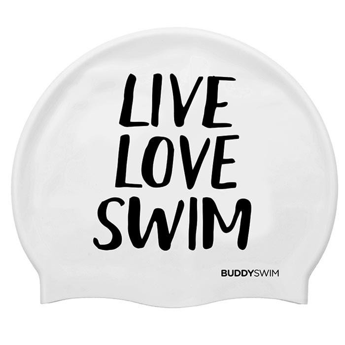 [해외]BUDDYSWIM Live Love Swim Silicone 6136860768 White