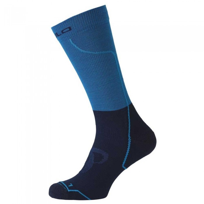 [해외]오들로 Cerami Warm Socks Long 6136871443 Blue Jewel / Diving Navy