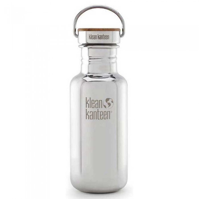 [해외]KLEAN KANTEEN Kanteen Reflect With Stainless Unibody Bamboo Cap 530ml 61315092 Mirrored Stainless