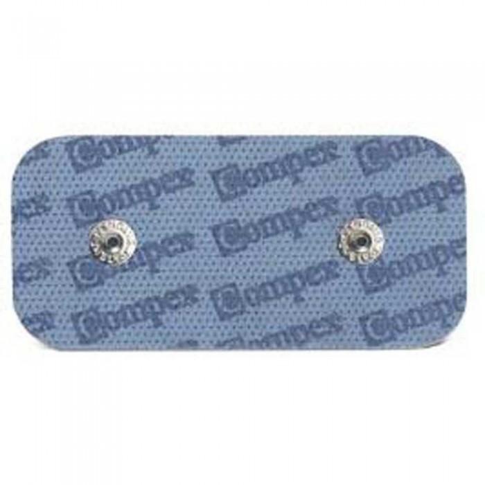 [해외]COMPEX Electrodes EasySnap Performance Rectangle 50x100mm 6115374 Blue