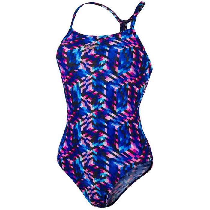 [해외]스피도 Allover Digital Rippleback 6137451597 Navy/Violet/Pool/Azelea Pink