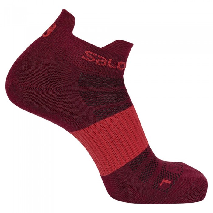[해외]살로몬 SOCKS Sense 2 Pair 6137487285 Red Dahlia / White