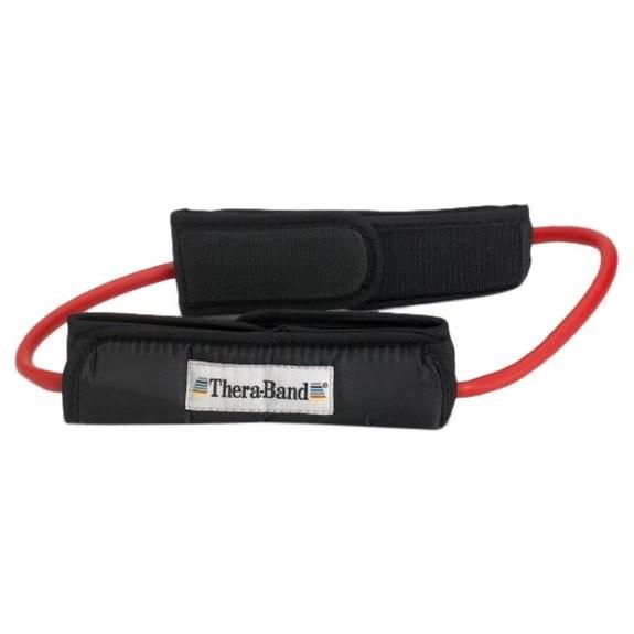 [해외]THERABAND Tubing Loop Padded Cuffs 7137731863 Red