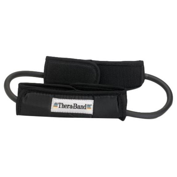 [해외]THERABAND Tubing Loop Padded Cuffs 7137731866 Black