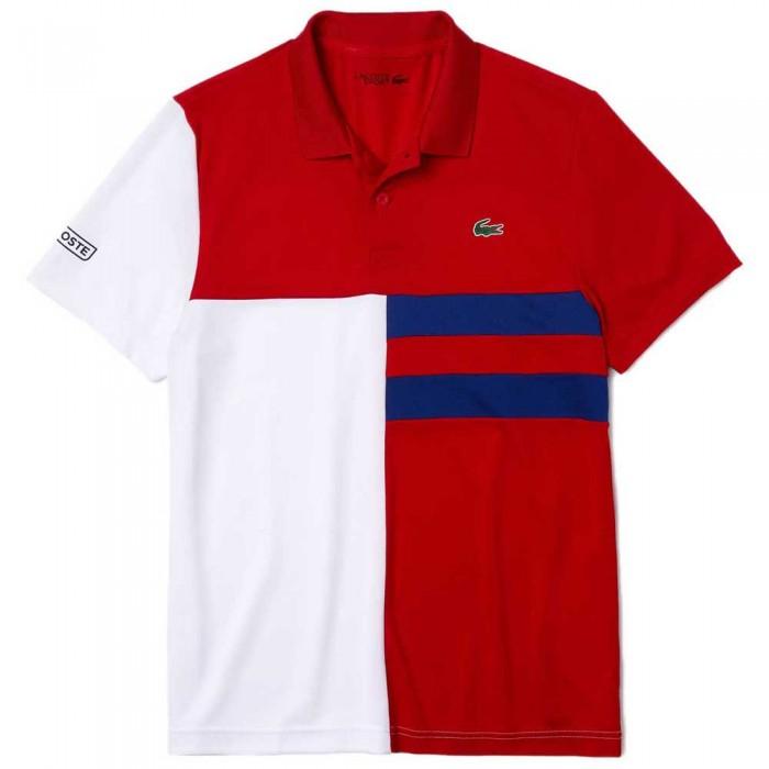 [해외]라코스테 Sport Colourblock Breathable Pique 7137685024 Red / White / Blue / Black