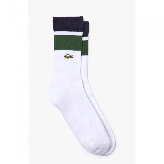 [해외]라코스테 Sport Striped Ribbed Cotton Blend 7137705926 Navy Blue / White / Green / White