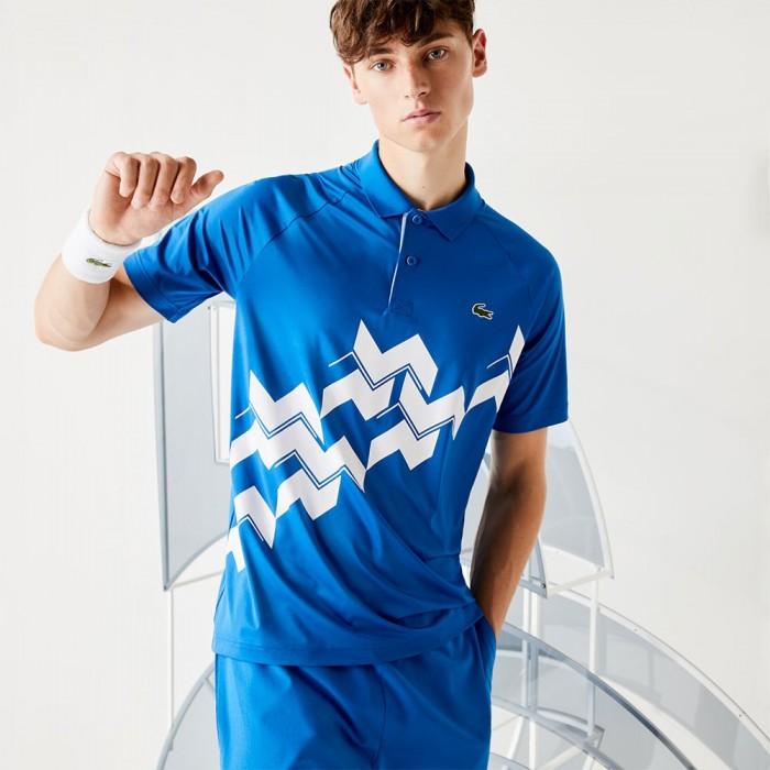 [해외]라코스테 Sport Djokovic Breathable Stretch Ribbed 7137685041 Marina / White
