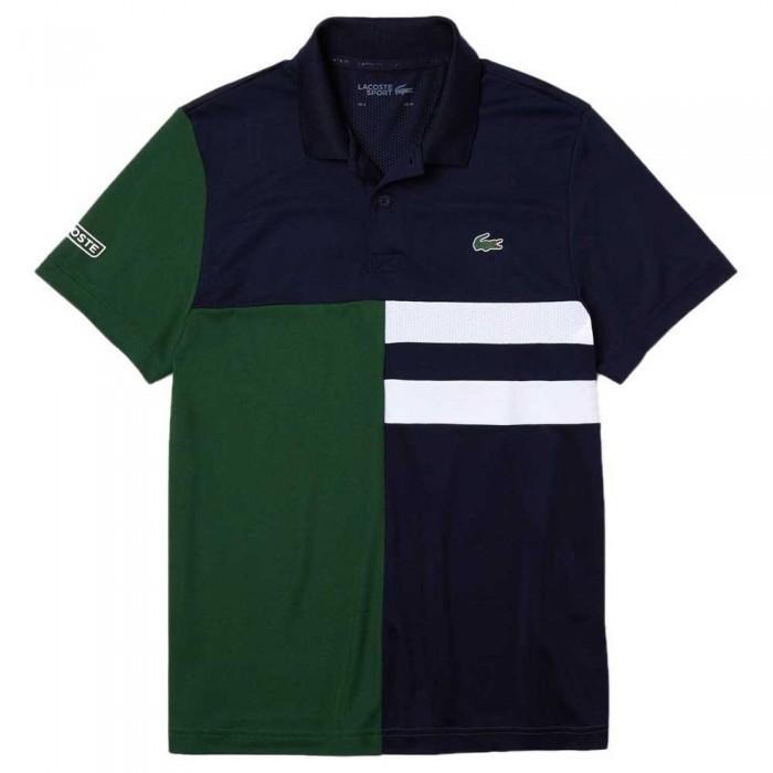 [해외]라코스테 Sport Colourblock Breathable Pique 7137685023 Navy Blue / Green / White / White