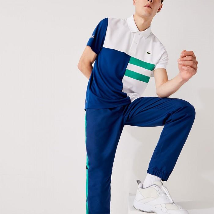 [해외]라코스테 Sport Colourblock Breathable Pique 7137685025 White / Blue / Green / White