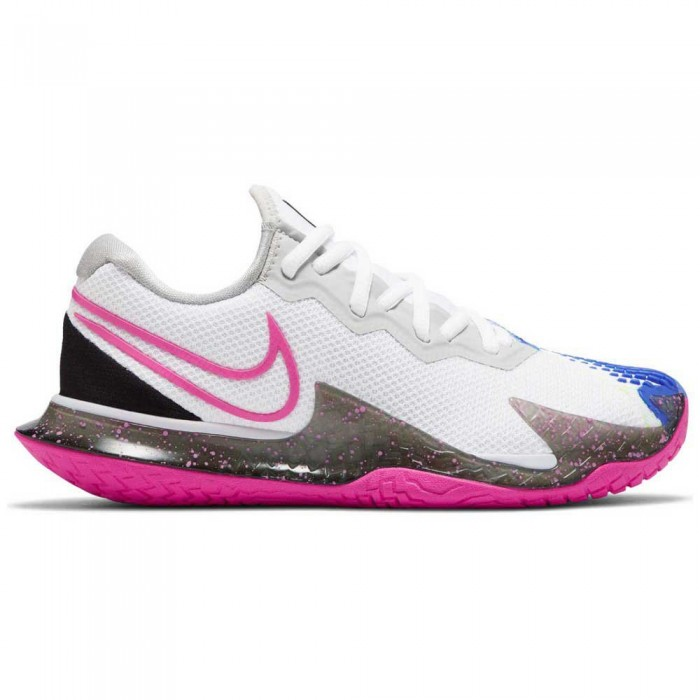 [해외]나이키 Court Air Zoom Vapor Cage 4 HC Woman12137480010 White / Laser Fuchsia / Sapphire / Hot Lime