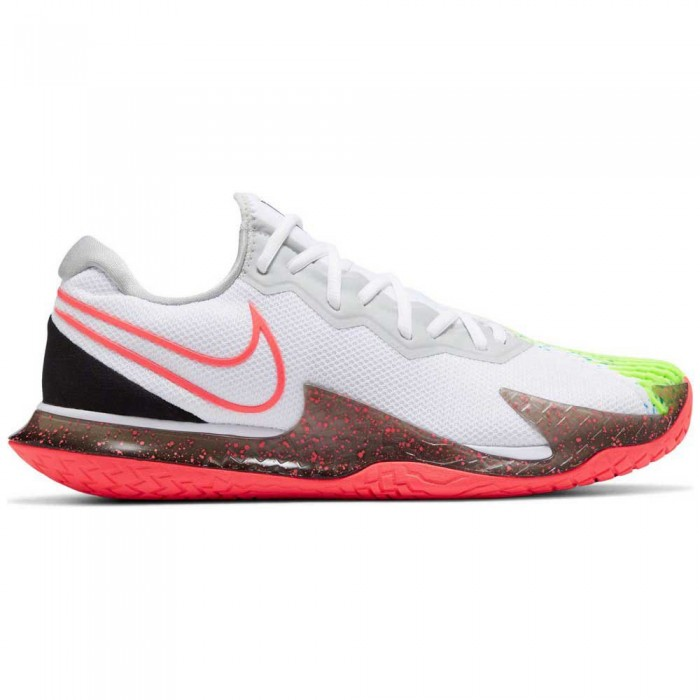 [해외]나이키 Court Air Zoom Vapor Cage 4 HC Man12137480062 White / Solar Red / Hot Lime / Neo Turquoise