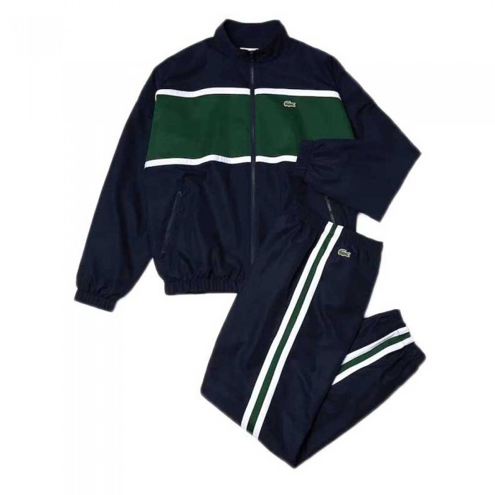 [해외]라코스테 Sport Colourblock 12137648611 Navy Blue / Green / White