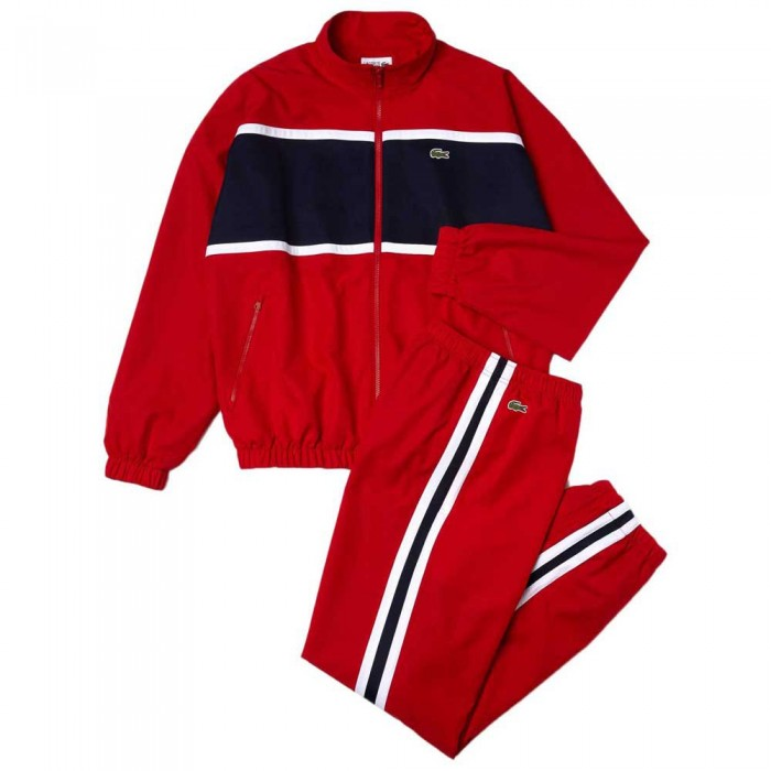 [해외]라코스테 Sport Loose Colourblock 12137685349 Red / Navy Blue / White