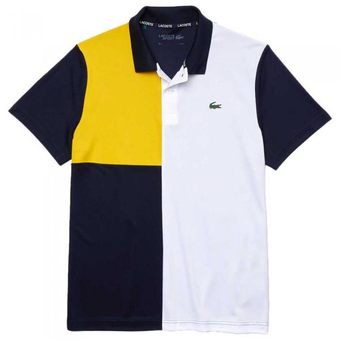 [해외]라코스테 Sport Freshness Technology Breathable Pique 12137685034 Navy Blue / White / Yellow