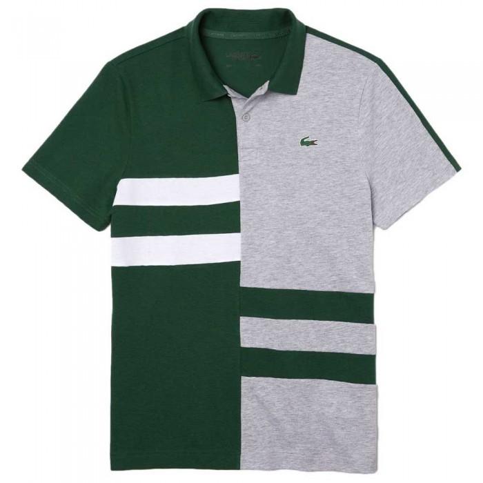 [해외]라코스테 Sport Colourblock Lightweight Cotton 12137685401 Green / Grey Chine / White