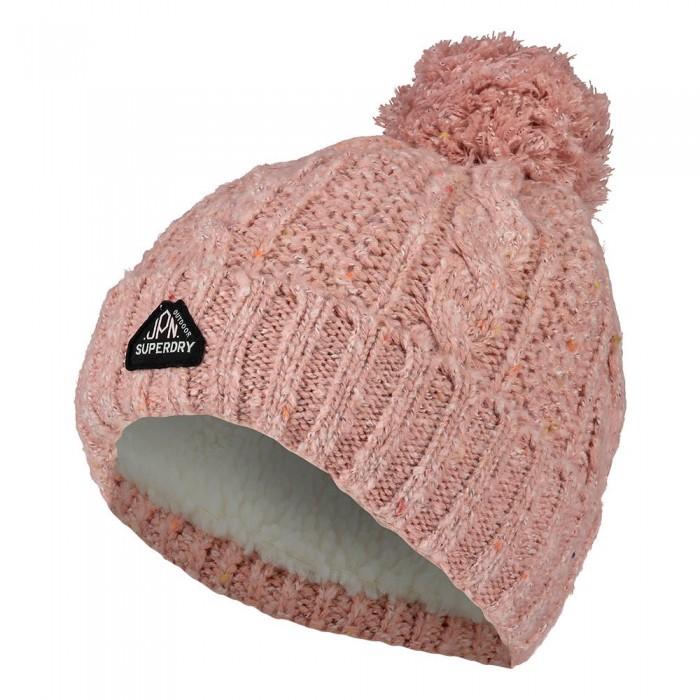 [해외]슈퍼드라이 Gracie Cable 137622580 Candy Pink Tweed