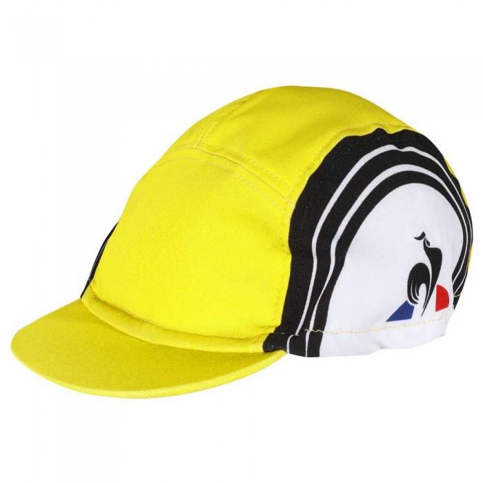 [해외]르꼬끄 Cycling Cap B.H 1137624255 New Optical White / Black / Empire Yellow