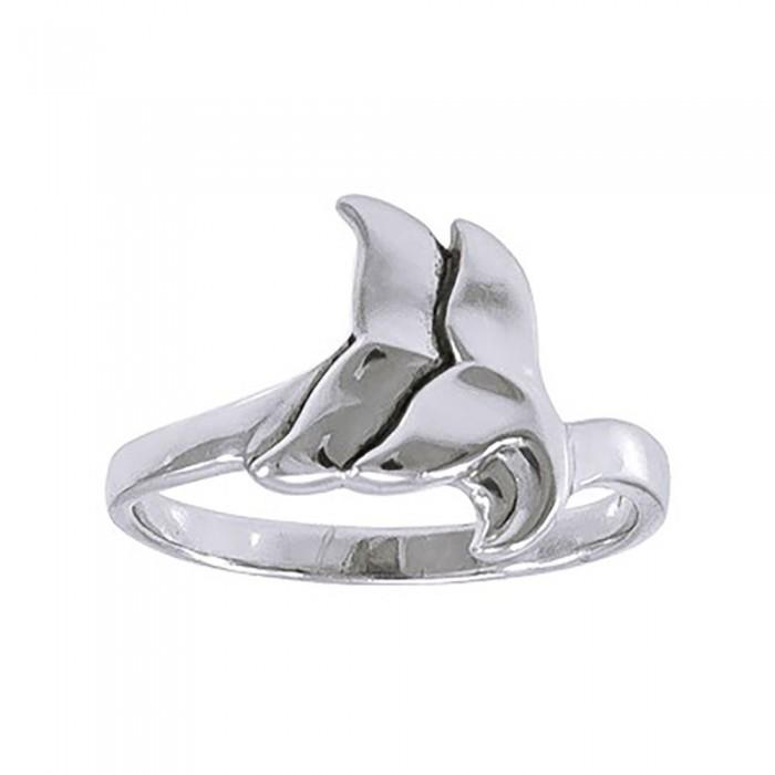 [해외]DIVE SILVER Double Whale Tail Wrap Ring 10137681382 Silver