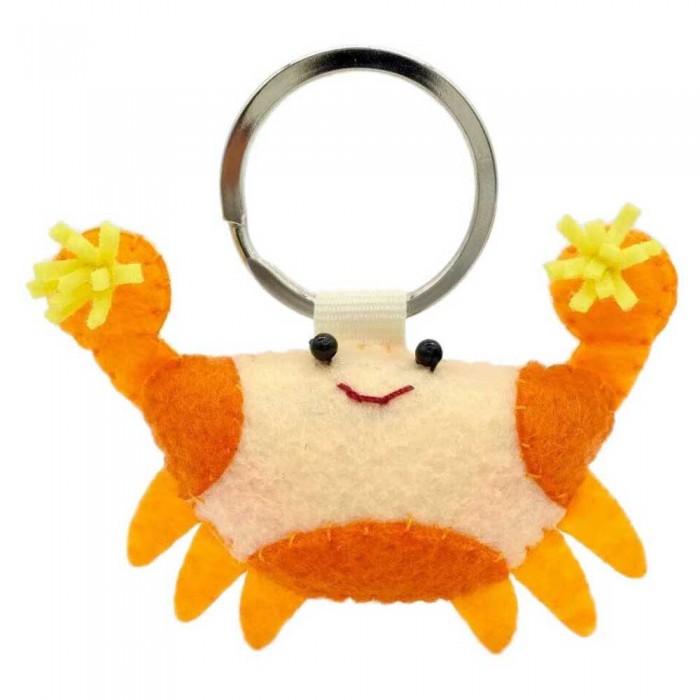 [해외]DIVE INSPIRE Pomme Pom Pom Crab Keychain 10137681509 Orange / Yellow