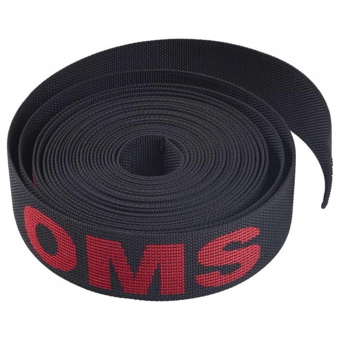 [해외]OMS Nylon Webbing 2´´ 7.6 m 10137739354 Black / Red