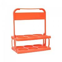 [해외]SOFTEE PVC Basic Carrier For 6 Bottles 3137772874 Coral