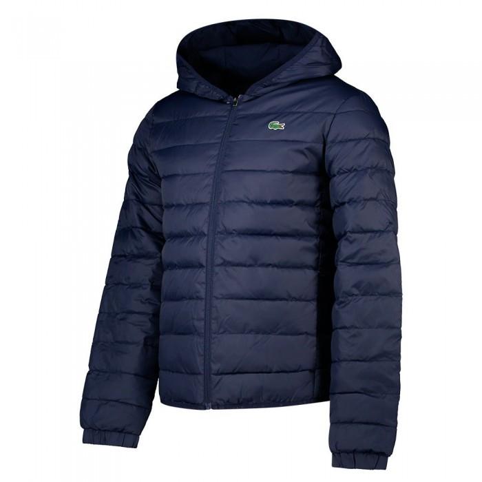 [해외]라코스테 Sport Hooded Water-Resistant Quilted 12137648494 Navy Blue