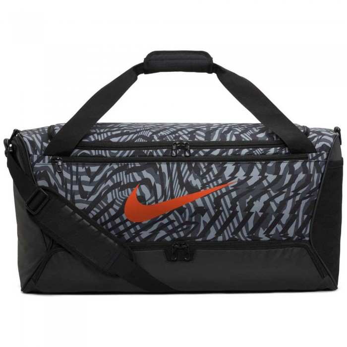 [해외]나이키 Brasilia Printed M 7137482869 Black / Smoke Grey / Team Orange
