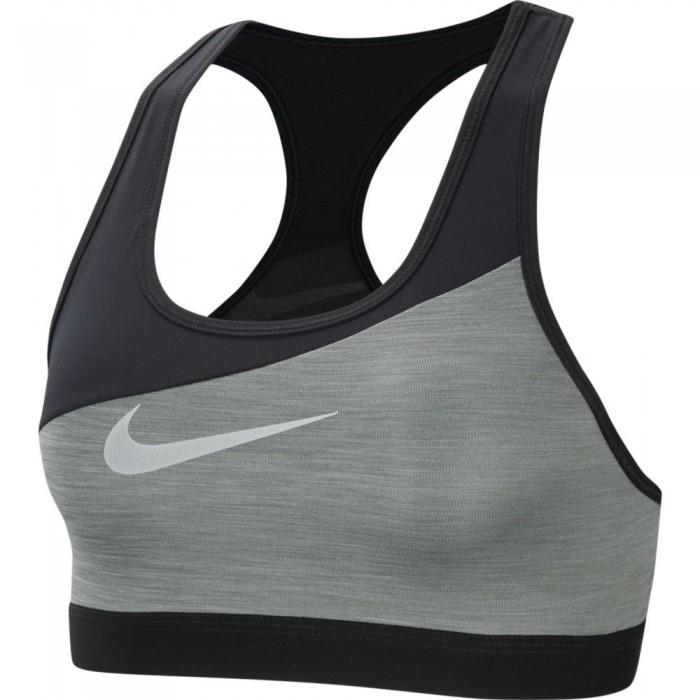 [해외]나이키 Swoosh Metallic Medium Support Sports 7137707677 Smoke Grey / Pure / Black / Metallic Silver