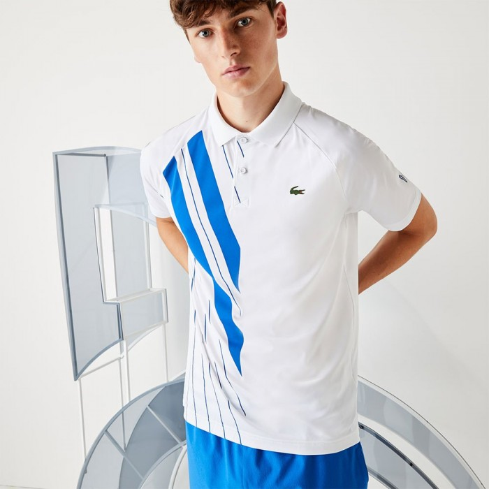 [해외]라코스테 Sport Djokovic Stretch Ribbed 7137685037 White / Marina