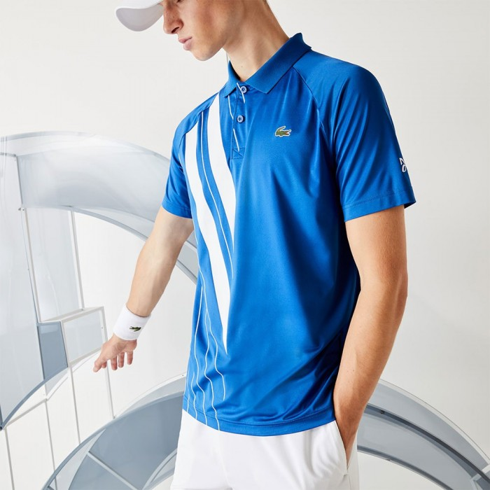 [해외]라코스테 Sport Djokovic Stretch Ribbed 7137685038 Marina / White