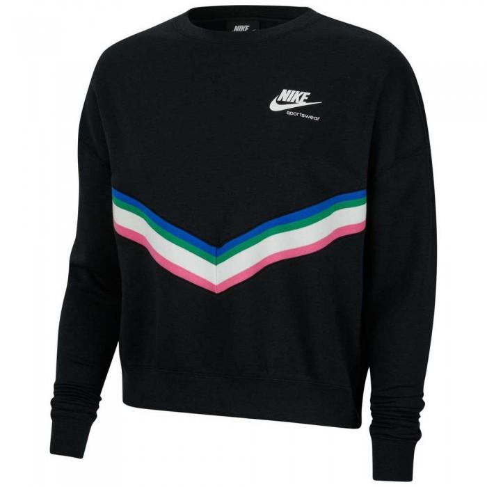 [해외]나이키 Sportswear Fleece Crew 6137483771 Black / Sail / White