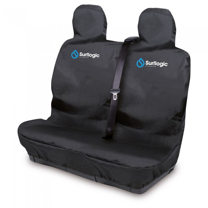 [해외]SURFLOGIC Waterproof Car Seat Double Cover 14137794685 Black