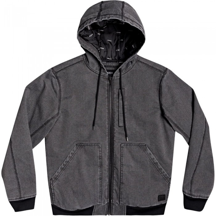 [해외]루카 Hooded Canvas Bomber 14137676511 Rvca Black