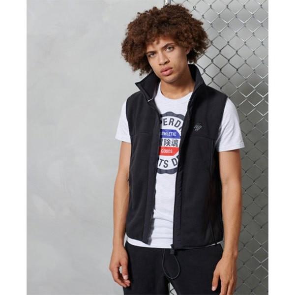 [해외]슈퍼드라이 Sportstyle Fleece Gilet 137775729 Black