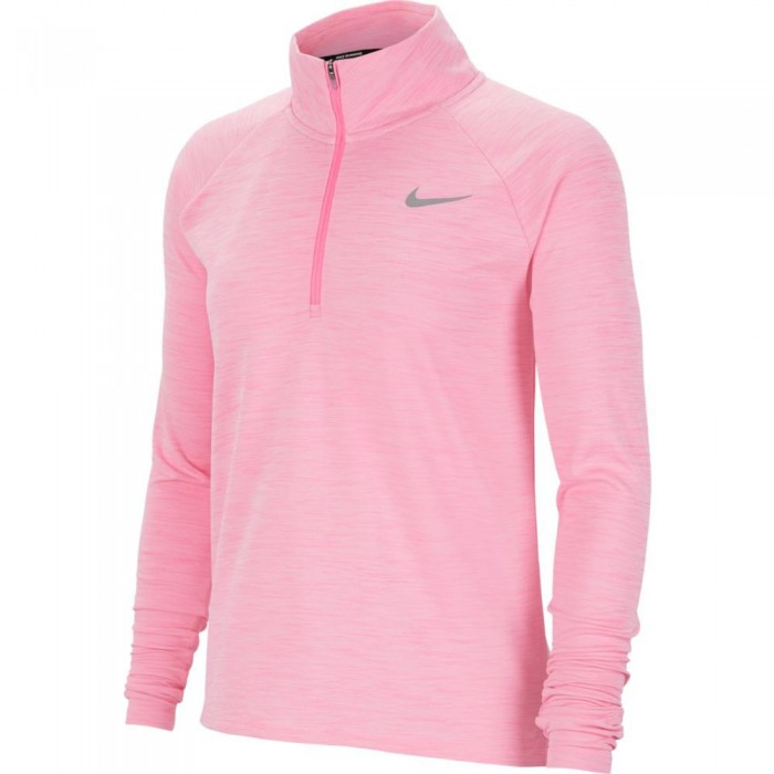 [해외]나이키 Pacer 1/2 Zip Running Top 6137708281 Pink Glow / Htr / Reflective Silver