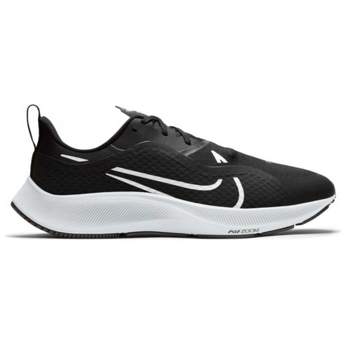 [해외]나이키 Air Zoom Pegasus 37 Shield Man6137527557 Black / White / Pure Platinum / Reflect Silver