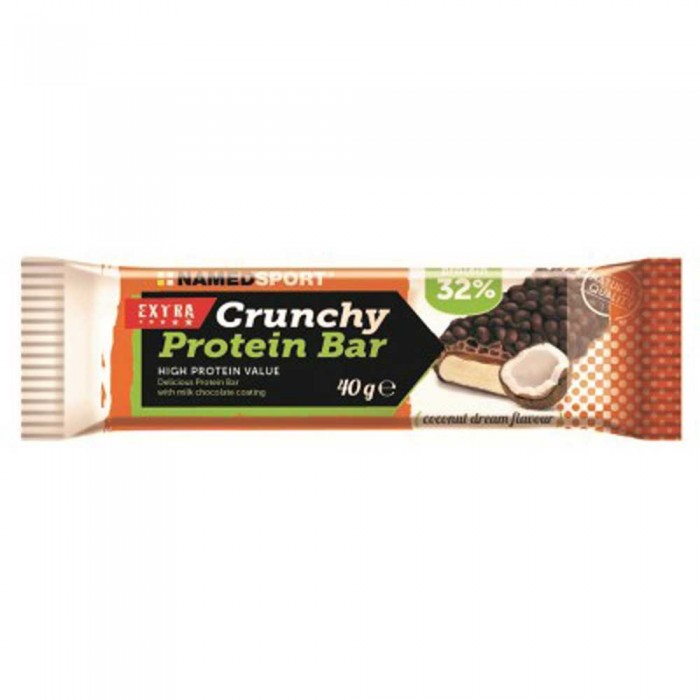 [해외]NAMED SPORT Crunchy Protein 40gr x 24 Bars 7137552282 Coconut