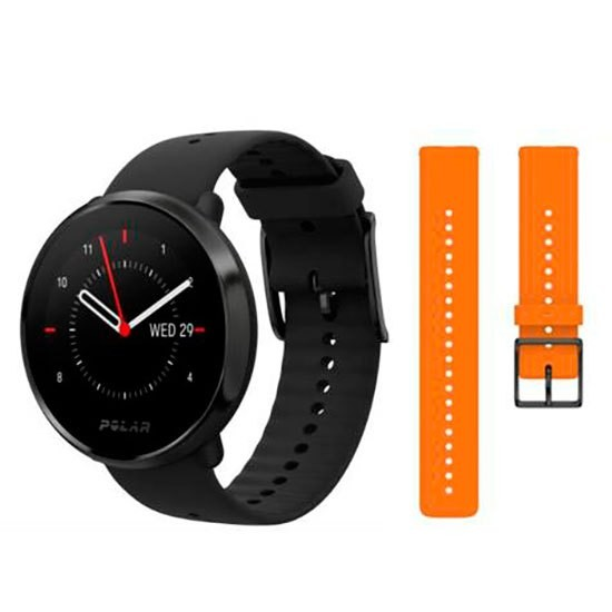 [해외]POLAR Ignite+Spare Wrist Strap 7137694614 Black / Orange