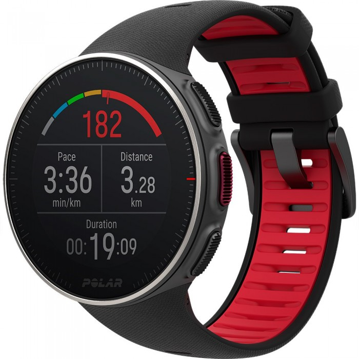 [해외]POLAR Vantage V TI 12137152427 Black / Red