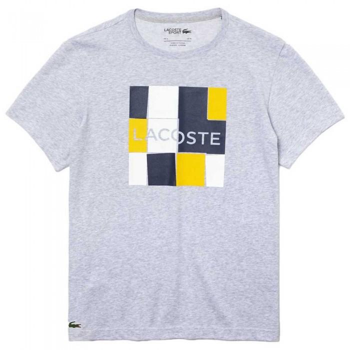 [해외]라코스테 Sport Graphic Print Breathable 12137685304 Grey Chine / White / Navy Blue